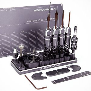 [Arrowmax] AM Special Toolset For 1/32 Mini 4WD (Gray) 프리미엄공구