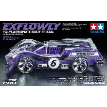타미야 미니카 95571 Exflowly Purple Special Polycarbonate Body MS Chassis